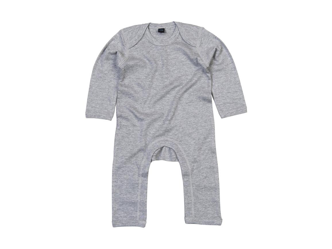 BabyBugz Baby Rompasuit, Heather Grey Melange, 6-12 bedrucken, Art.-Nr. 013471263