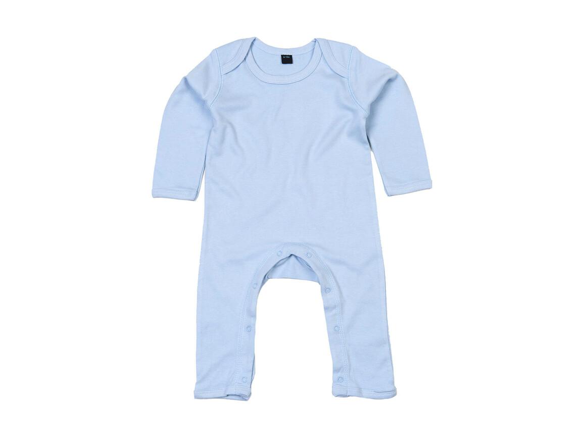 BabyBugz Baby Rompasuit, Dusty Blue, 6-12 bedrucken, Art.-Nr. 013473113
