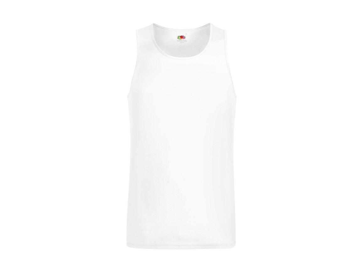Fruit of the Loom Performance Vest, White, L bedrucken, Art.-Nr. 014010005