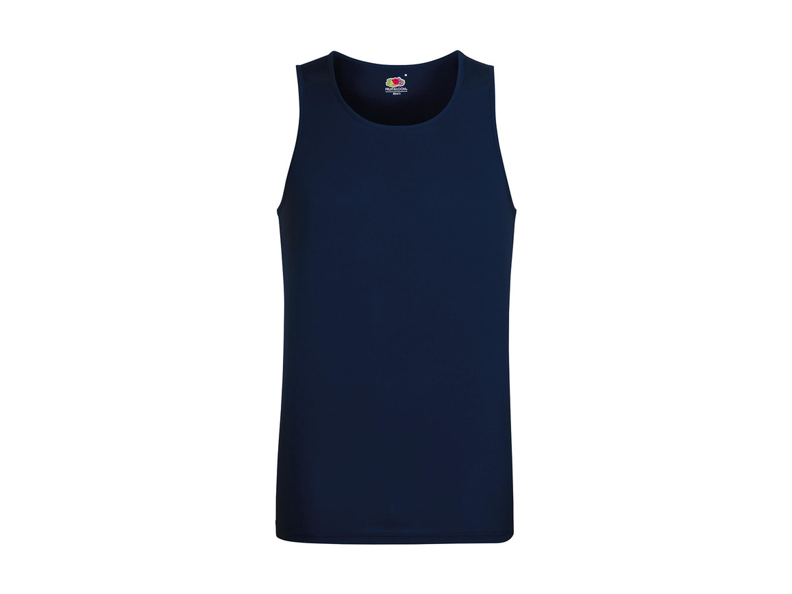 Fruit of the Loom Performance Vest, Deep Navy, 2XL bedrucken, Art.-Nr. 014012027