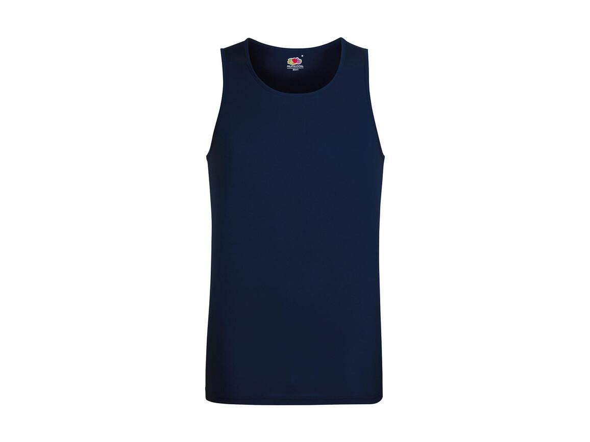 Fruit of the Loom Performance Vest, Deep Navy, M bedrucken, Art.-Nr. 014012024