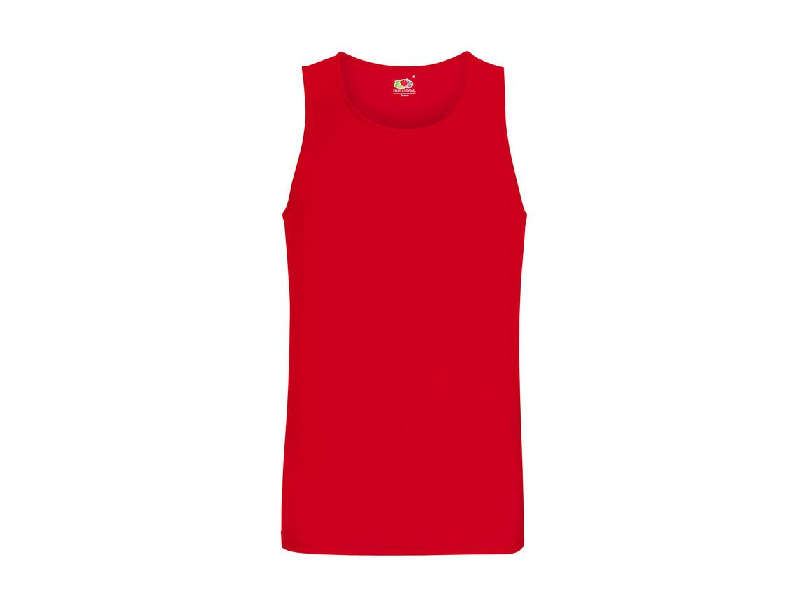 Fruit of the Loom Performance Vest, Red, M bedrucken, Art.-Nr. 014014004