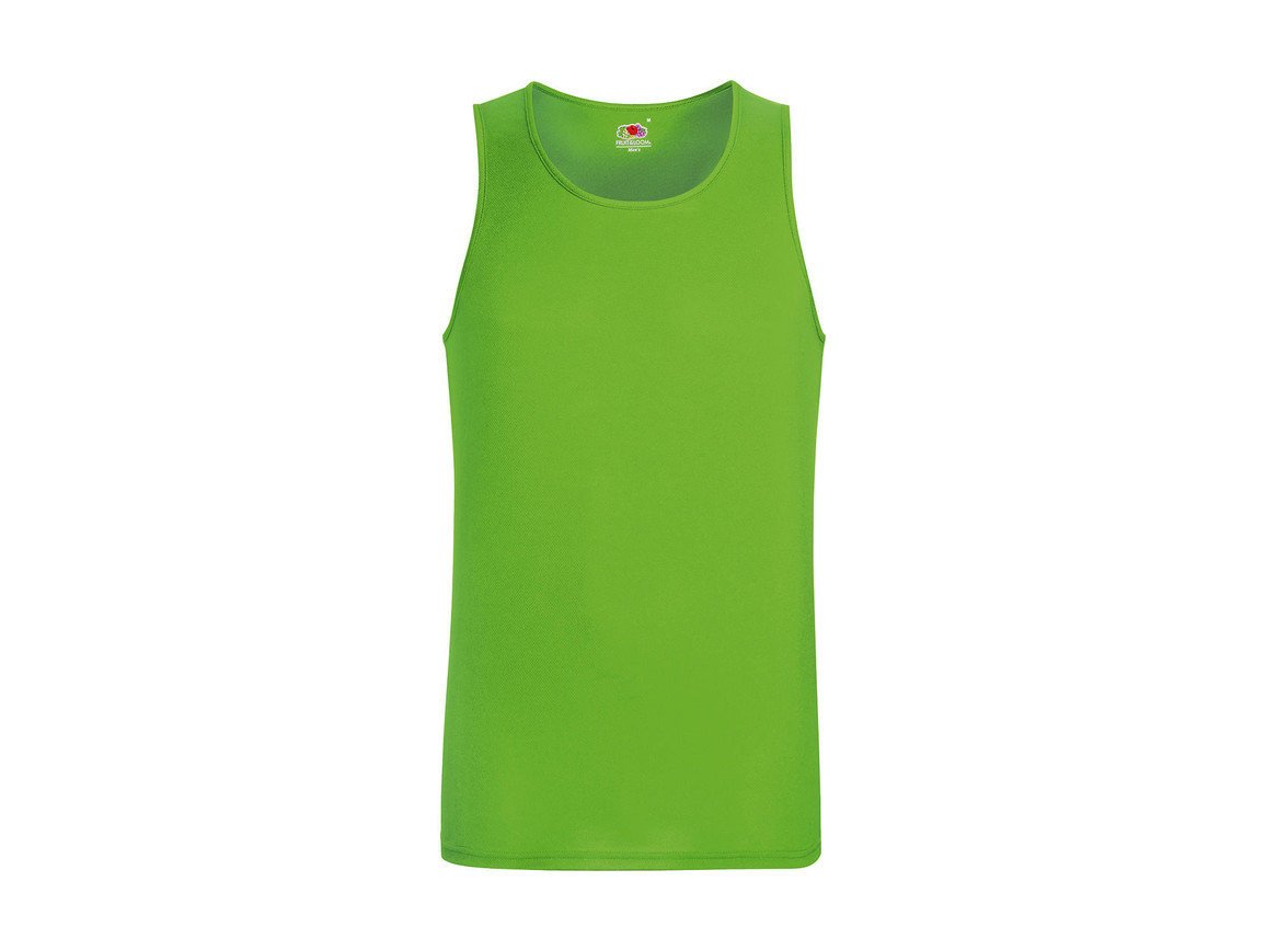Fruit of the Loom Performance Vest, Lime Green, 2XL bedrucken, Art.-Nr. 014015217
