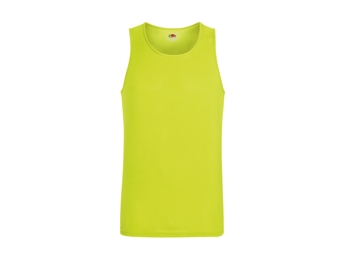 Fruit of the Loom Performance Vest, Bright Yellow, M bedrucken, Art.-Nr. 014016024