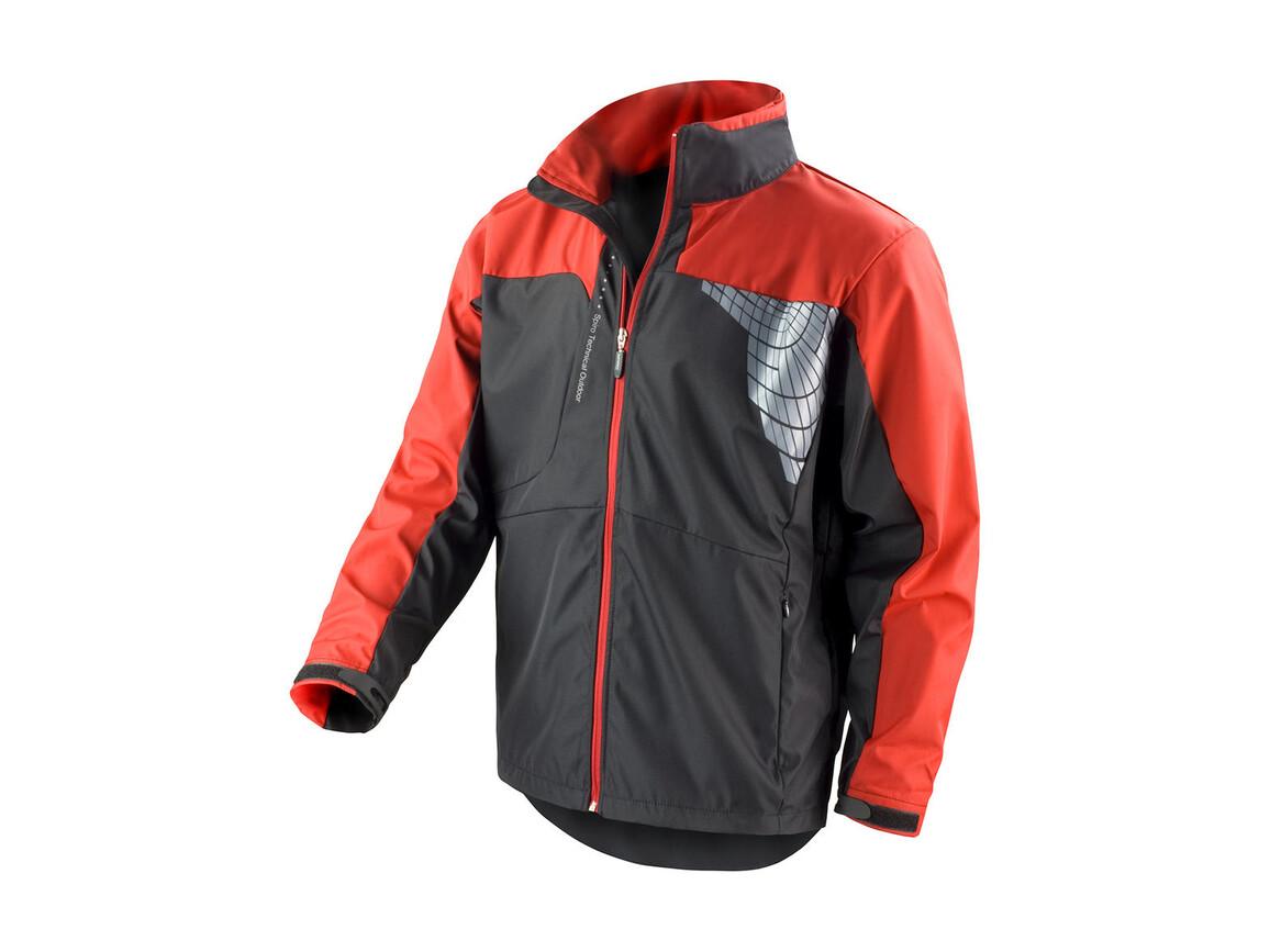 Result Men`s Team Soft Shell Jacket, Black/Red, L bedrucken, Art.-Nr. 014331545