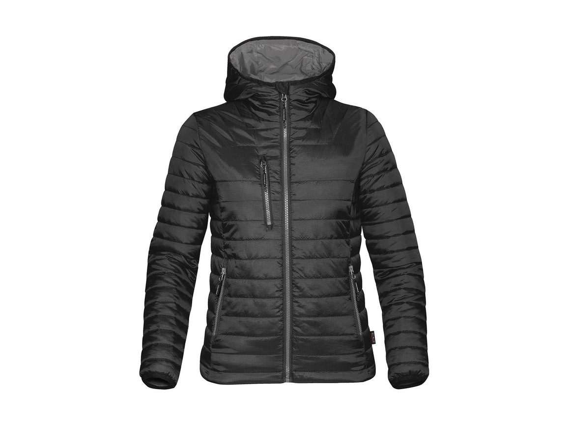 StormTech Women`s Gravity Thermal Jacket, Black/Charcoal, XS bedrucken, Art.-Nr. 015181652