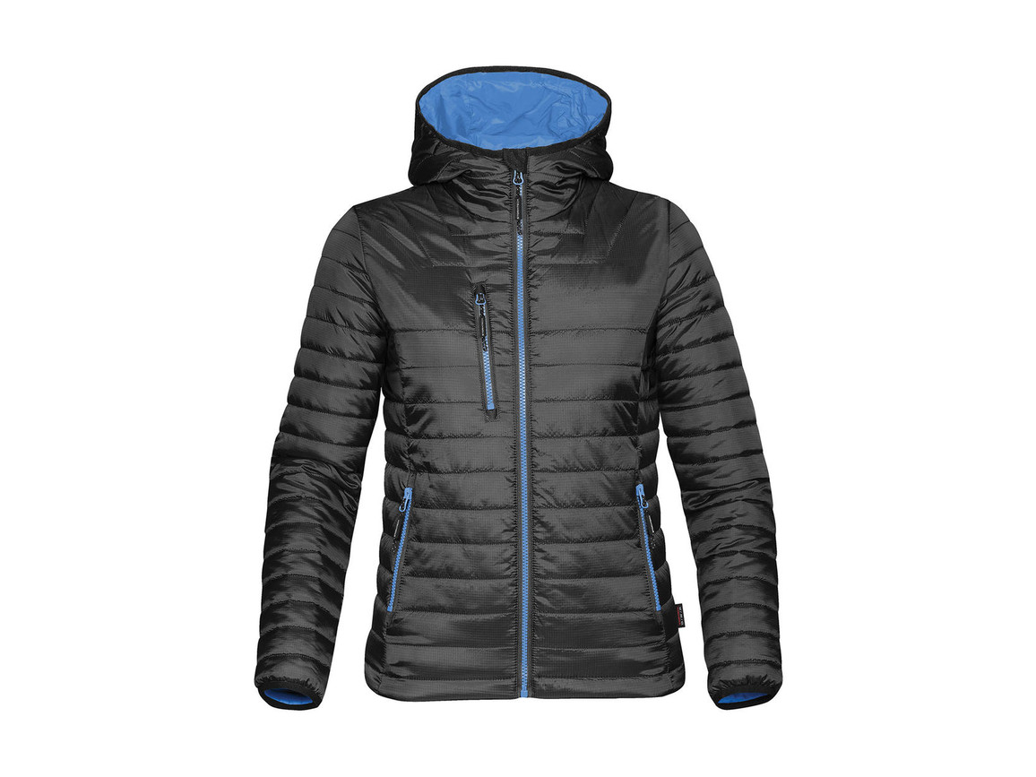 StormTech Women`s Gravity Thermal Jacket, Black/Marine Blue, XL bedrucken, Art.-Nr. 015181686