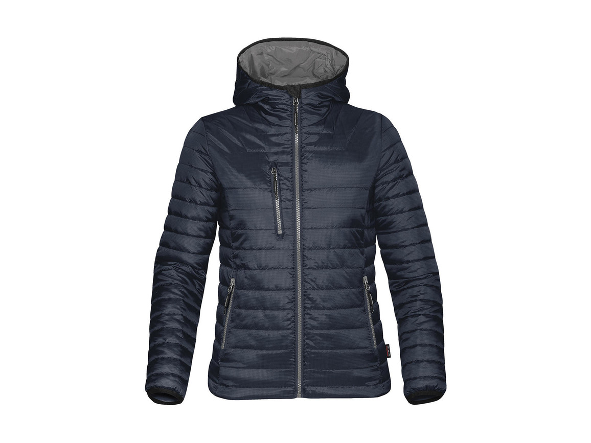 StormTech Women`s Gravity Thermal Jacket, Navy/Charcoal, XS bedrucken, Art.-Nr. 015182642