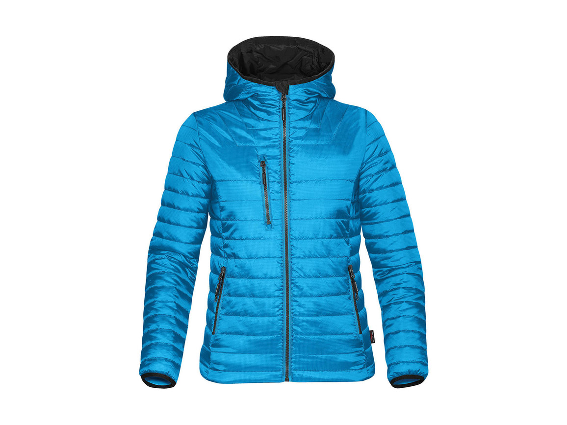 StormTech Women`s Gravity Thermal Jacket, Electric Blue/Black, XL bedrucken, Art.-Nr. 015183636