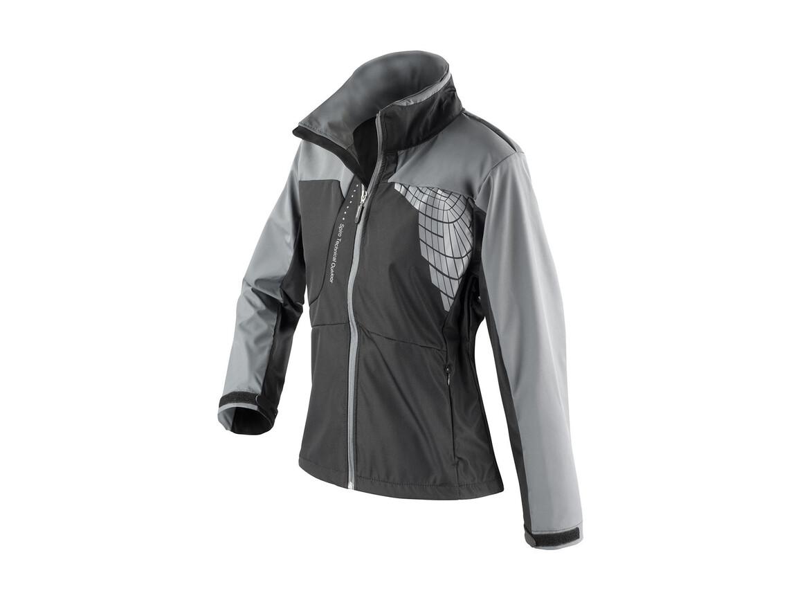 Result Women`s Team Soft Shell Jacket, Black/Grey, L bedrucken, Art.-Nr. 015331515