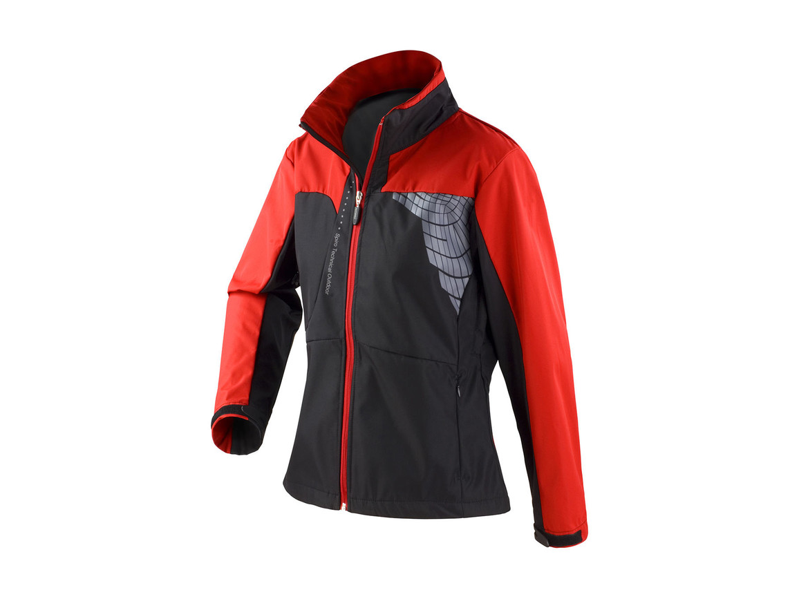 Result Women`s Team Soft Shell Jacket, Black/Red, XL bedrucken, Art.-Nr. 015331546
