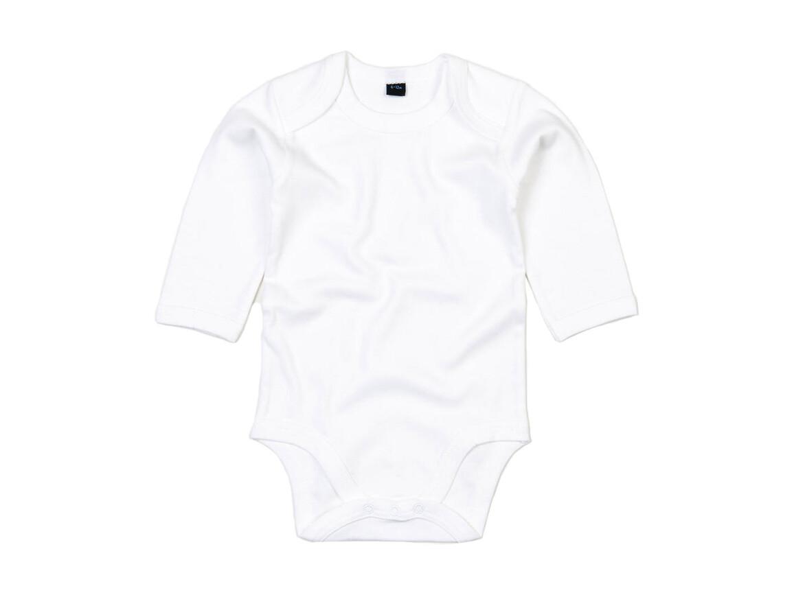 BabyBugz Baby Organic LS Bodysuit, White, 3-6 bedrucken, Art.-Nr. 015470002