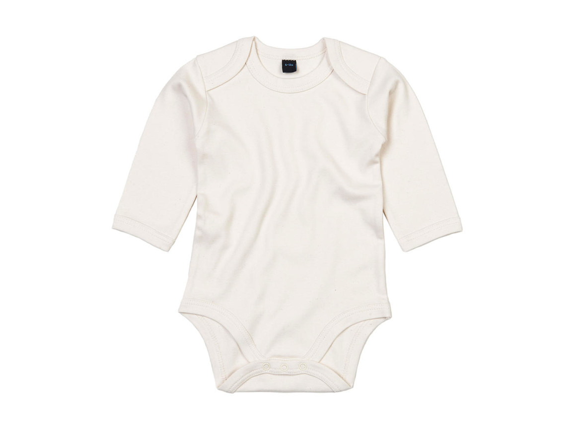 BabyBugz Baby Organic LS Bodysuit, Organic Natural, 3-6 bedrucken, Art.-Nr. 015470082