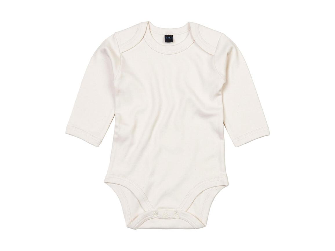 BabyBugz Baby Organic LS Bodysuit, Organic Natural, 6-12 bedrucken, Art.-Nr. 015470083