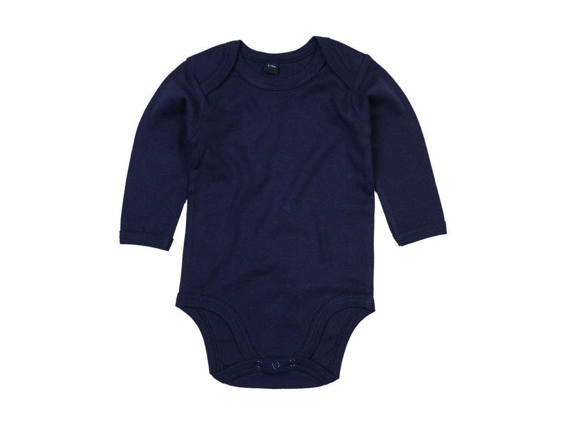 BabyBugz Baby Organic LS Bodysuit, Nautical Navy, 0-3 bedrucken, Art.-Nr. 015472011