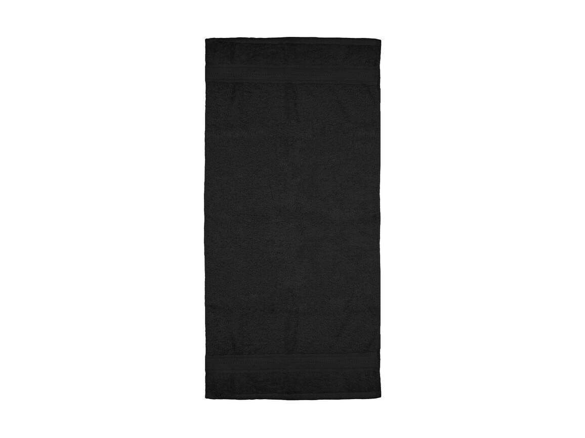 Jassz Towels Rhine Hand Towel 50x100 cm, Black, One Size bedrucken, Art.-Nr. 015641010