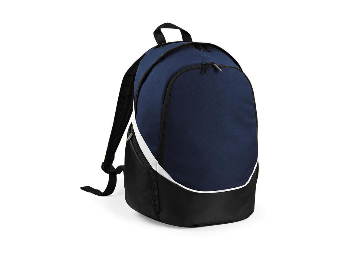 Quadra Pro Team Backpack, French Navy/Black/White, One Size bedrucken, Art.-Nr. 016302810