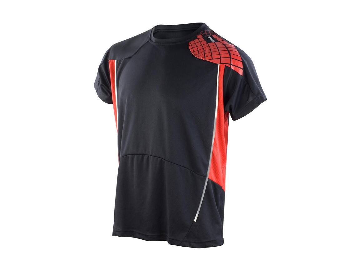 Result Men`s Training Shirt, Black/Red, XL bedrucken, Art.-Nr. 016331546