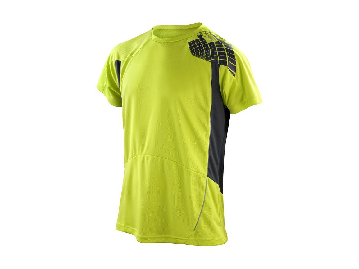 Result Men`s Training Shirt, Lime/Grey, XL bedrucken, Art.-Nr. 016335556