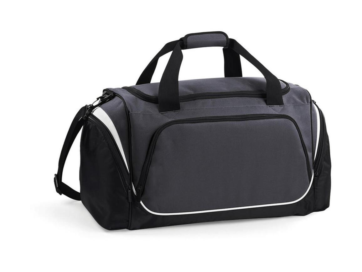 Quadra Pro Team Holdall, Graphite/Black/White, One Size bedrucken, Art.-Nr. 017301860