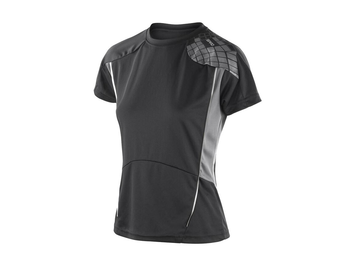 Result Women`s Training Shirt, Black/Grey, L bedrucken, Art.-Nr. 017331515