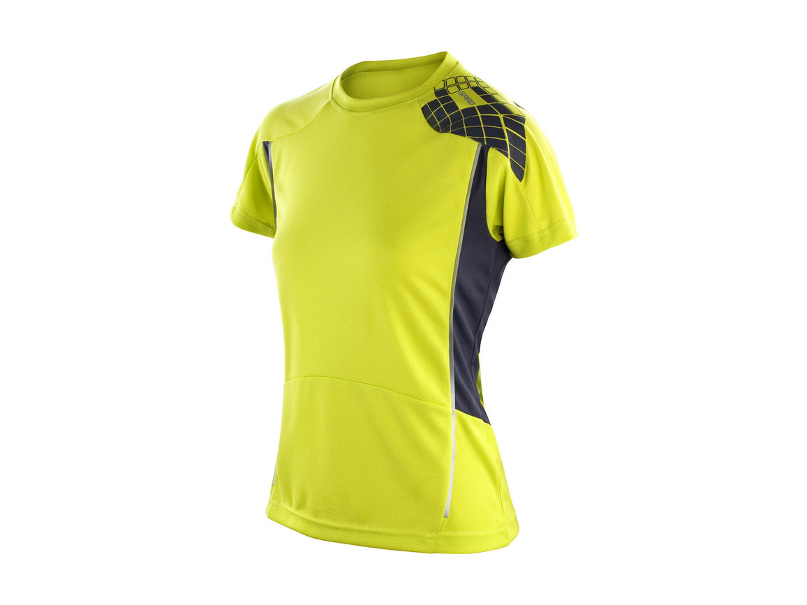 Result Women`s Training Shirt, Lime/Grey, L bedrucken, Art.-Nr. 017335555