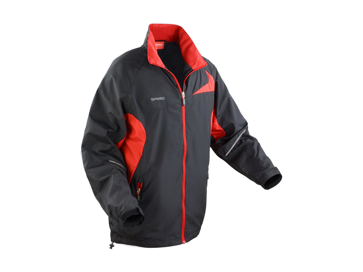 Result Unisex Micro Lite Team Jacket, Black/Red, 2XL bedrucken, Art.-Nr. 028331547