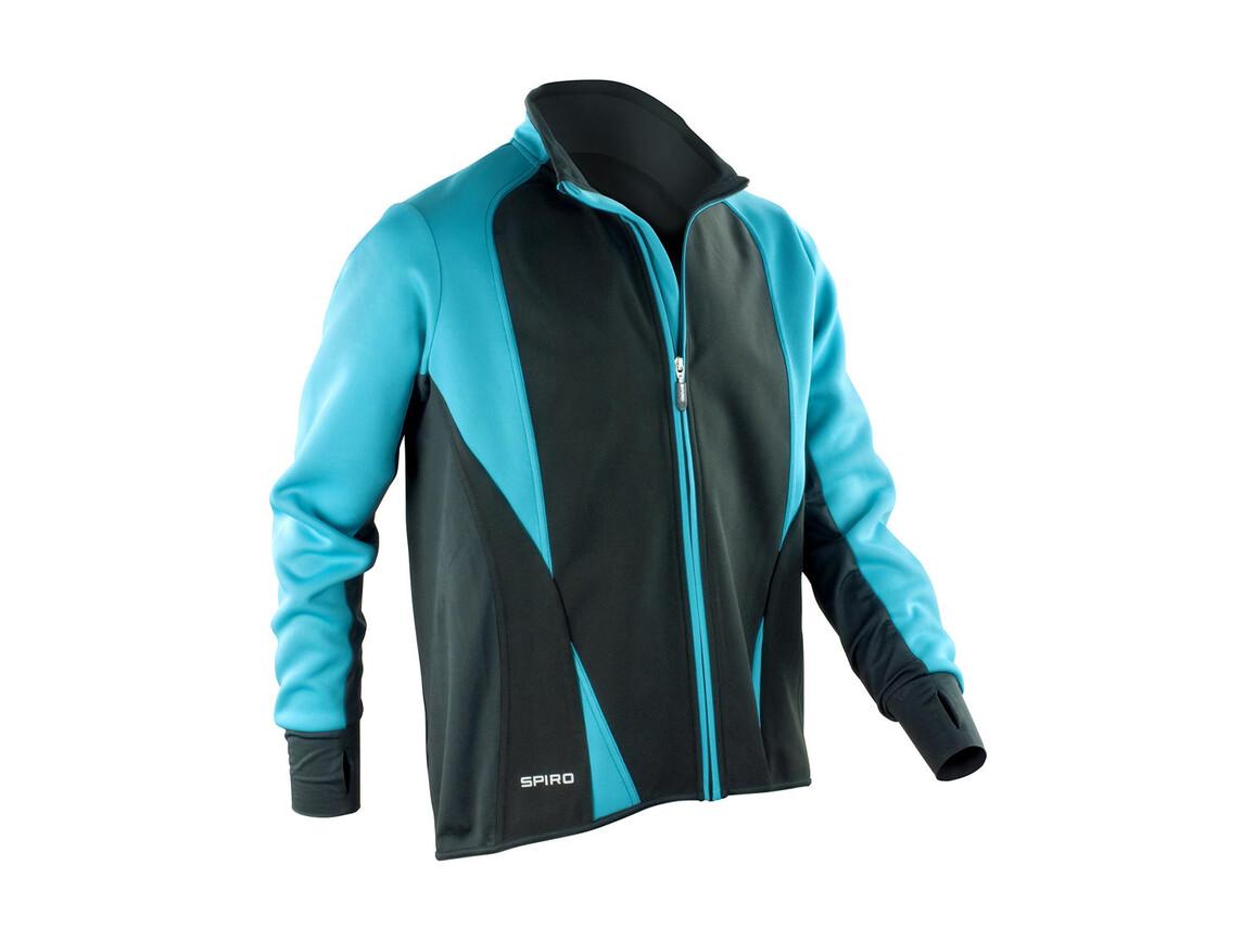 Result Men`s Freedom Softshell Jacket, Aqua/Black, M bedrucken, Art.-Nr. 046333724