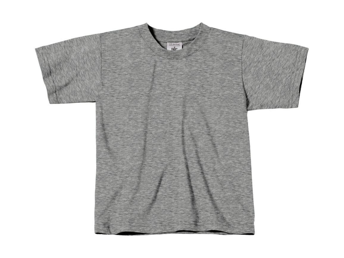 B & C Exact 150/kids T-Shirt, Sport Grey, 3/4 (98/104) bedrucken, Art.-Nr. 158421253
