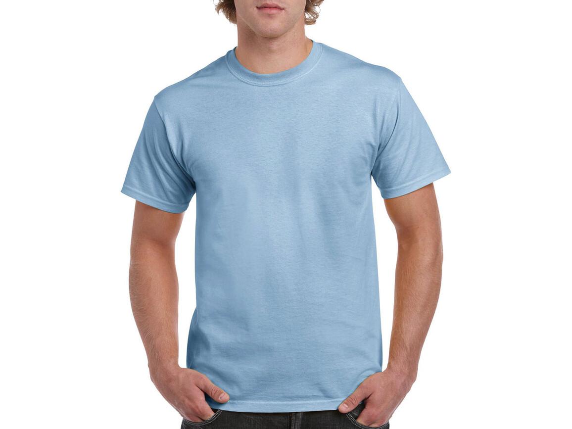 Gildan Heavy Cotton Adult T-Shirt, Light Blue, 2XL bedrucken, Art.-Nr. 180093217