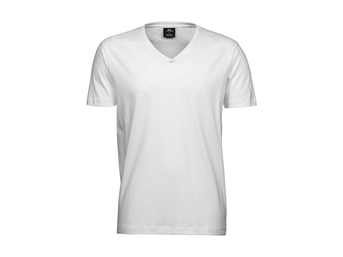 Tee Jays Men`s Fashion V-Neck Sof-Tee, White, 3XL bedrucken, Art.-Nr. 184540008