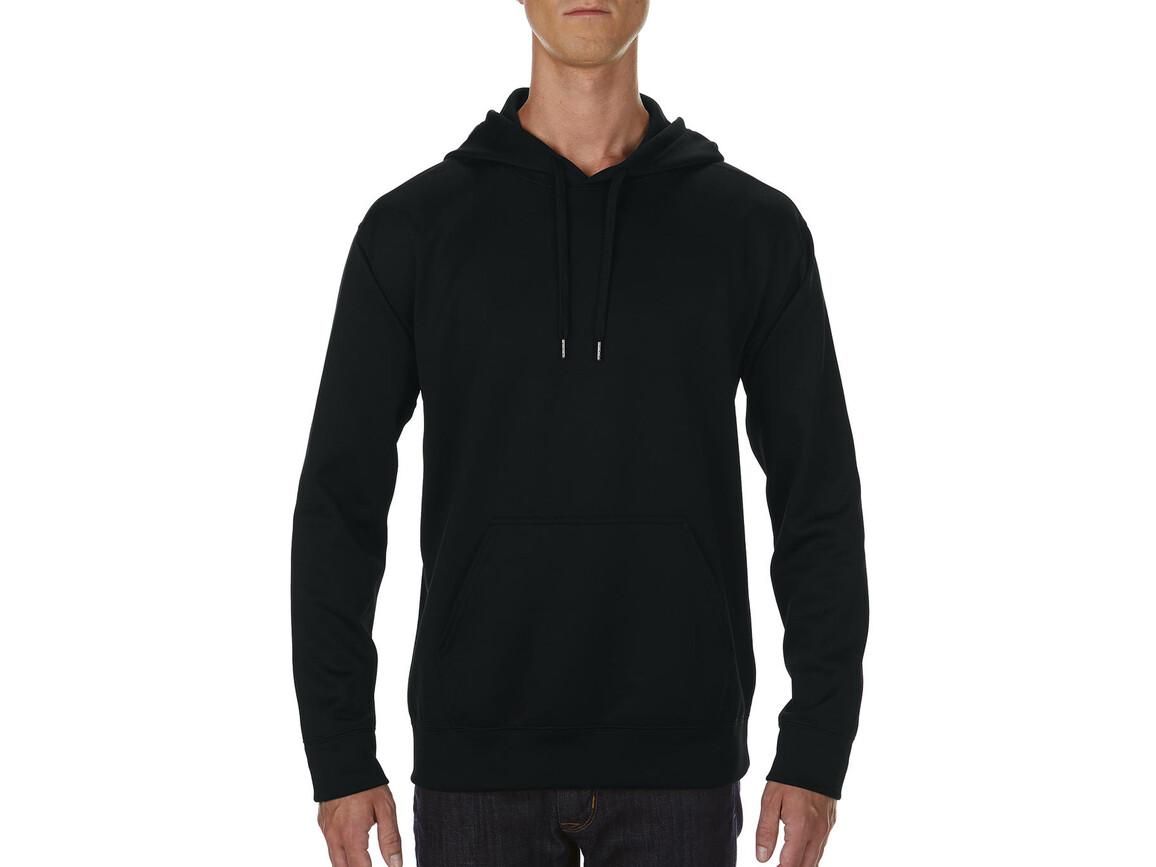Gildan Performance Adult Tech Hooded Sweatshirt, Black, S bedrucken, Art.-Nr. 200091013