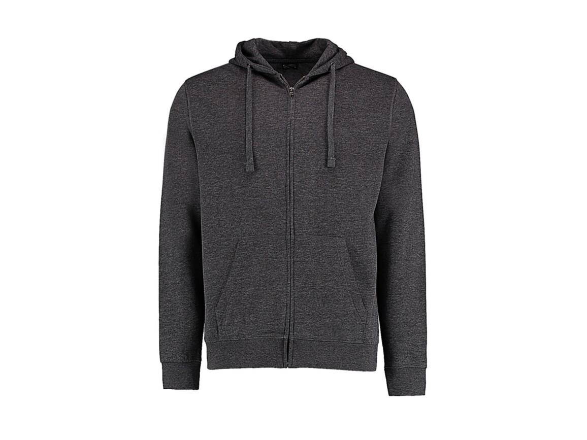 Kustom Kit Regular Fit Zipped Hoodie Superwash® 60º, Dark Grey Marl, M bedrucken, Art.-Nr. 203111174