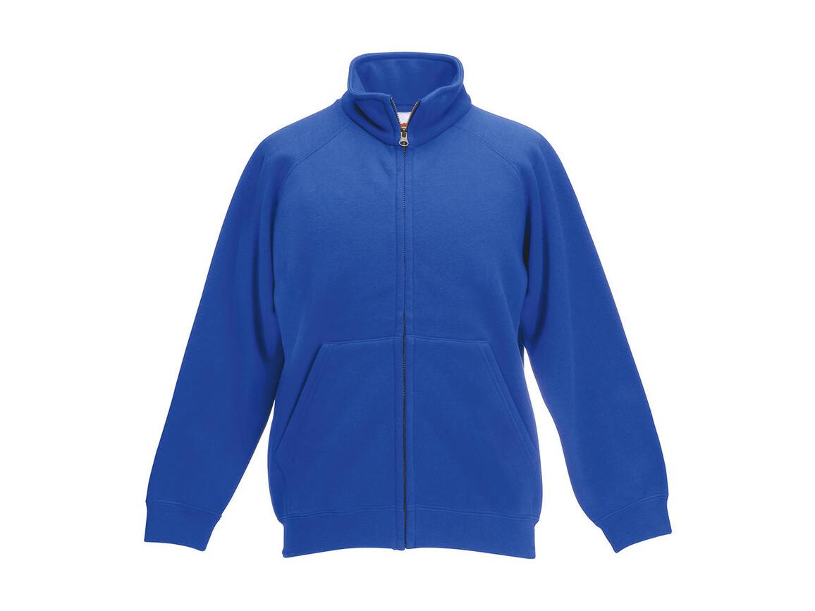 Fruit of the Loom Kids` Classic Sweat Jacket, Royal Blue, 128 (7-8) bedrucken, Art.-Nr. 214013005