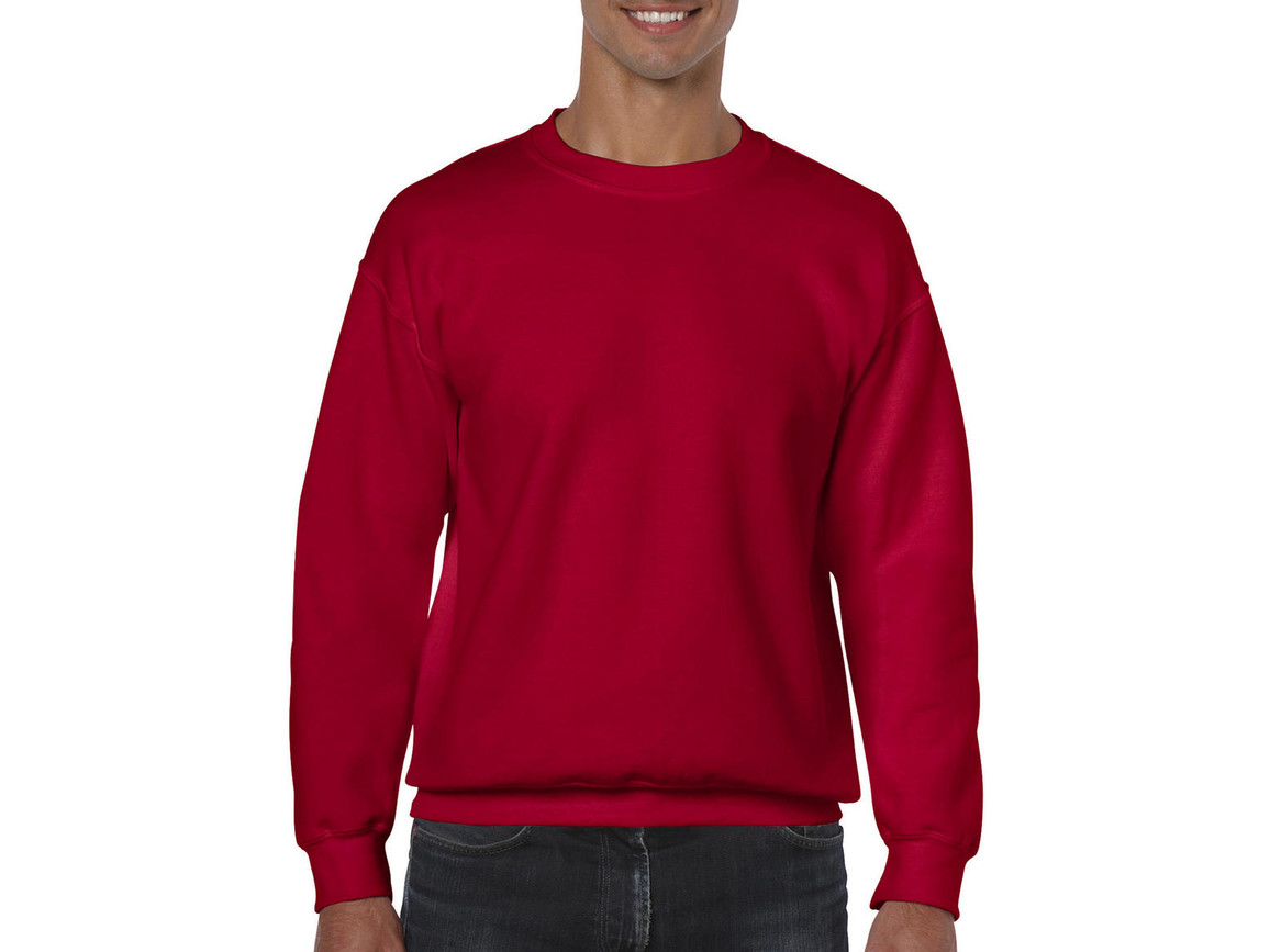 Gildan Heavy Blend Adult Crewneck Sweat, Cherry Red, 2XL bedrucken, Art.-Nr. 238094017