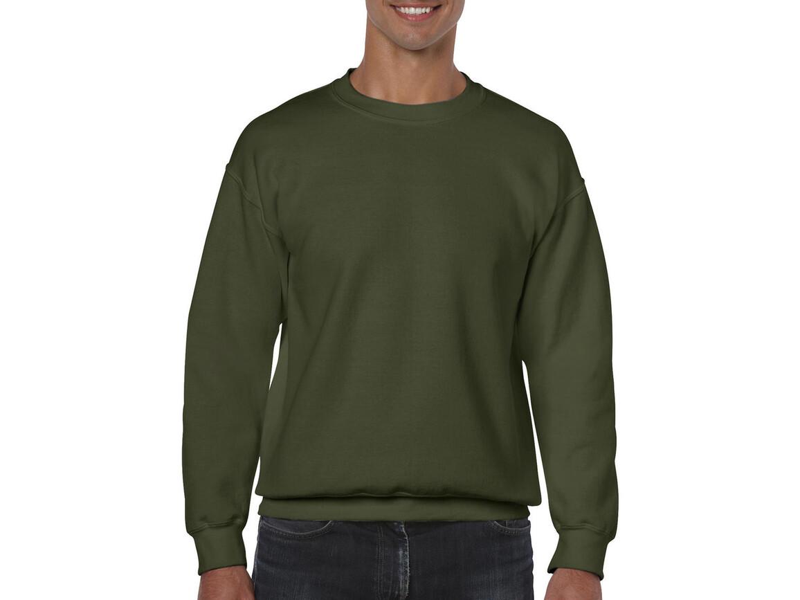 Gildan Heavy Blend Adult Crewneck Sweat, Military Green, M bedrucken, Art.-Nr. 238095064