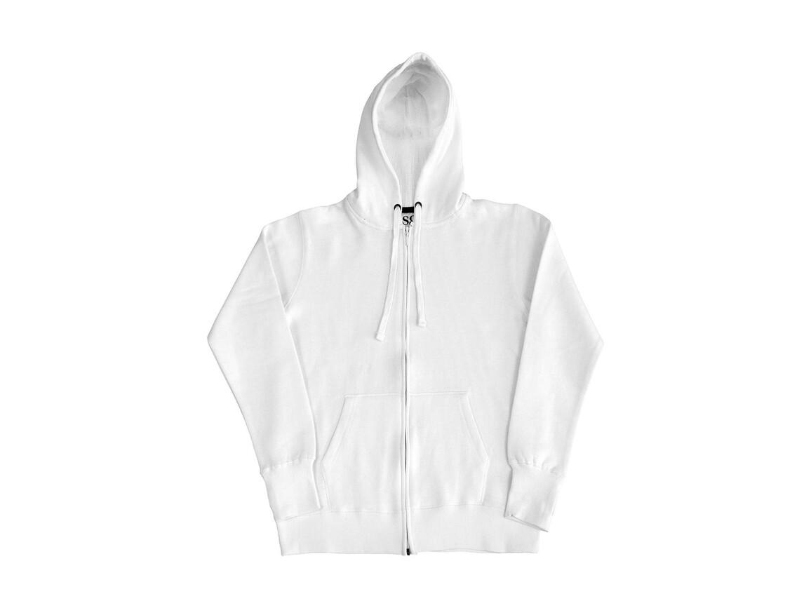SG Ladies` Heavyweight Full Zip Hoodie, White/Navy, 2XL bedrucken, Art.-Nr. 255520527