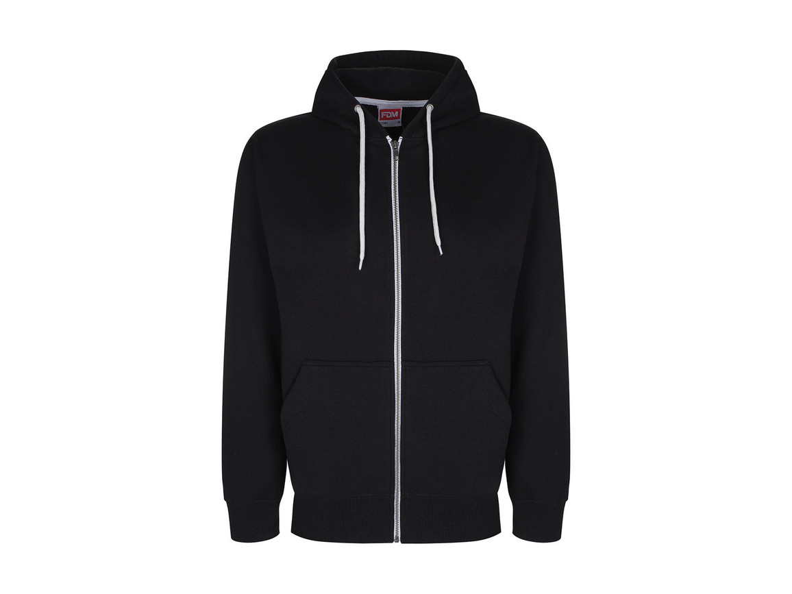 FDM Team Zip Hoodie, Black, S bedrucken, Art.-Nr. 266551013