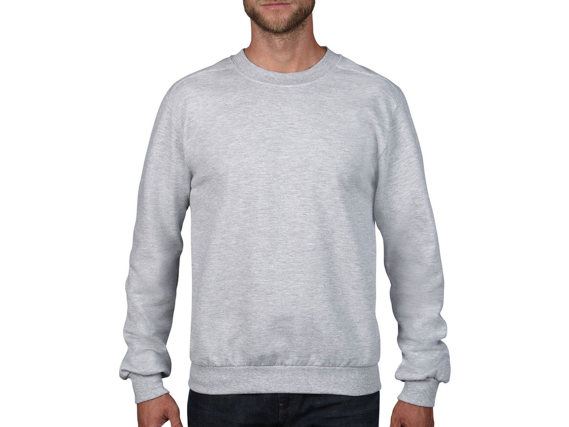 Anvil Adult Fashion Crewneck Sweat, Heather Grey, 3XL bedrucken, Art.-Nr. 271081238