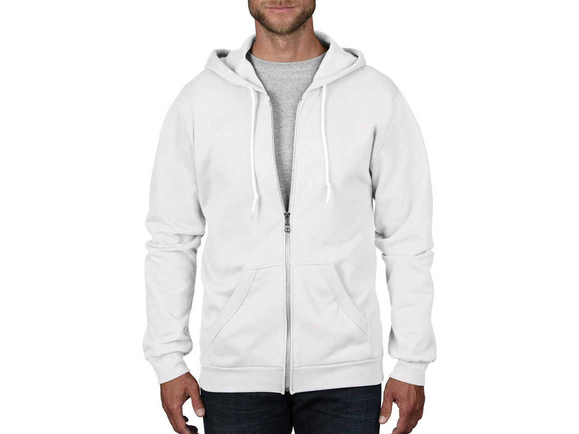 Anvil Adult Fashion Full-Zip Hooded Sweat, White, 3XL bedrucken, Art.-Nr. 273080008
