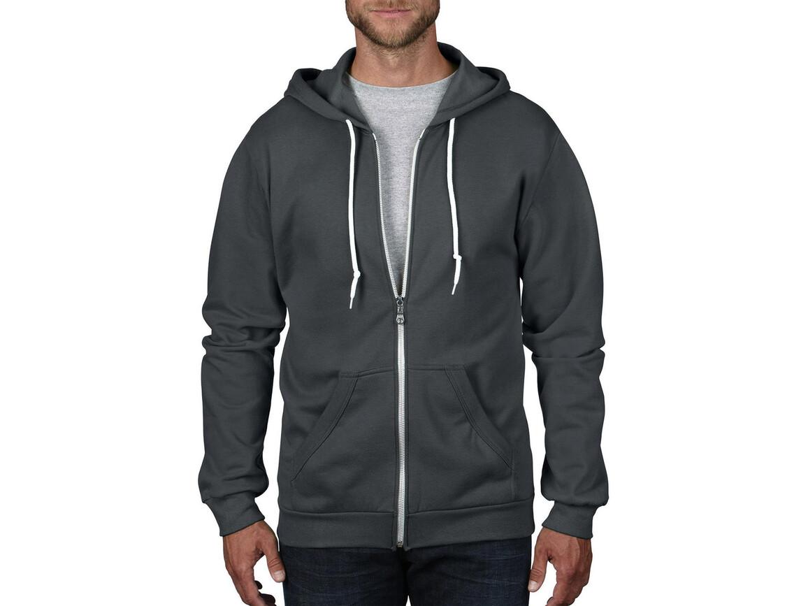 Anvil Adult Fashion Full-Zip Hooded Sweat, Charcoal, XL bedrucken, Art.-Nr. 273081306