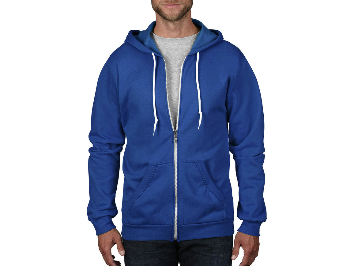 Anvil Adult Fashion Full-Zip Hooded Sweat, Royal Blue, 3XL bedrucken, Art.-Nr. 273083008