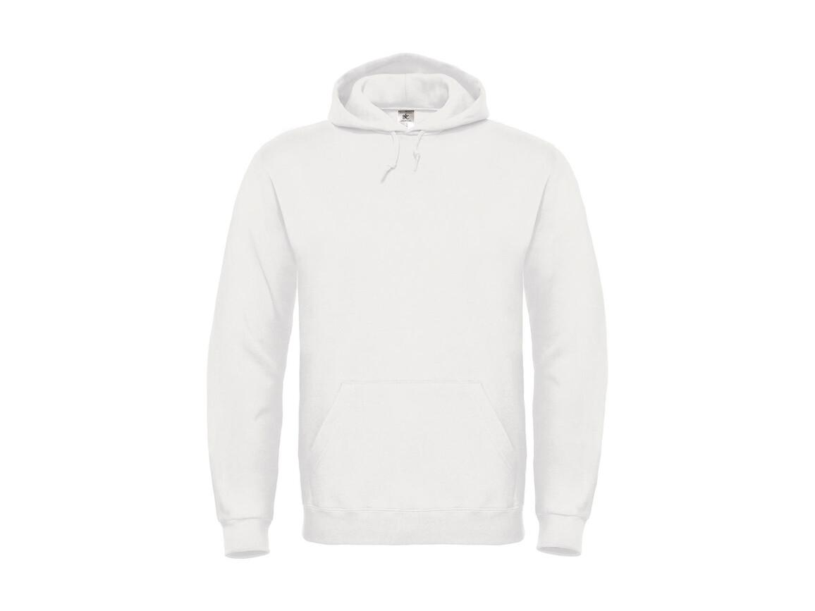 B & C ID.003 Cotton Rich Hooded Sweatshirt, White, S bedrucken, Art.-Nr. 275420003
