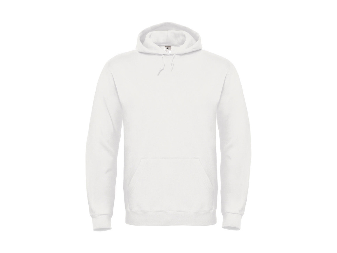 B & C ID.003 Cotton Rich Hooded Sweatshirt, White, 2XL bedrucken, Art.-Nr. 275420007