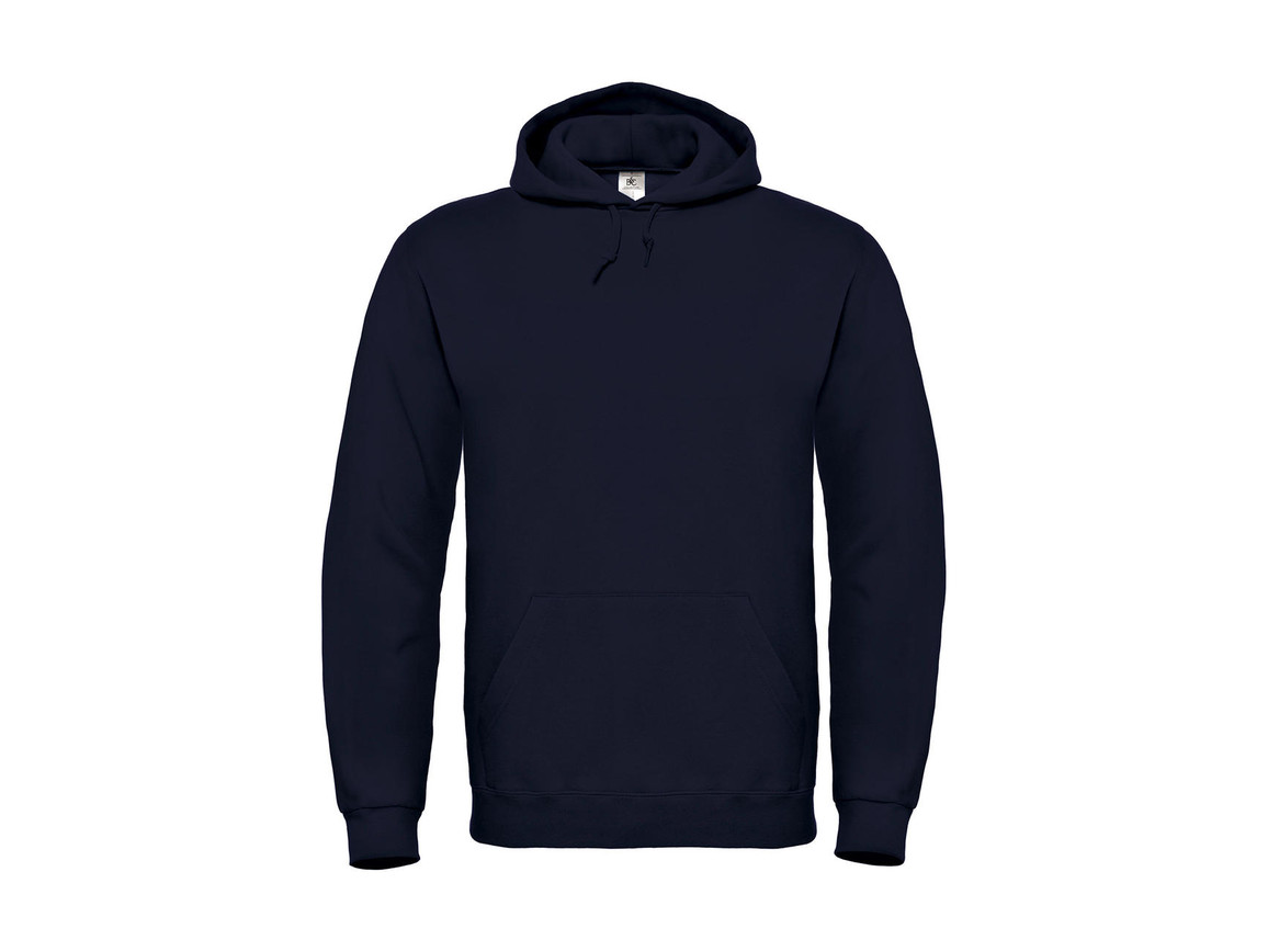 B & C ID.003 Cotton Rich Hooded Sweatshirt, Navy, L bedrucken, Art.-Nr. 275422005