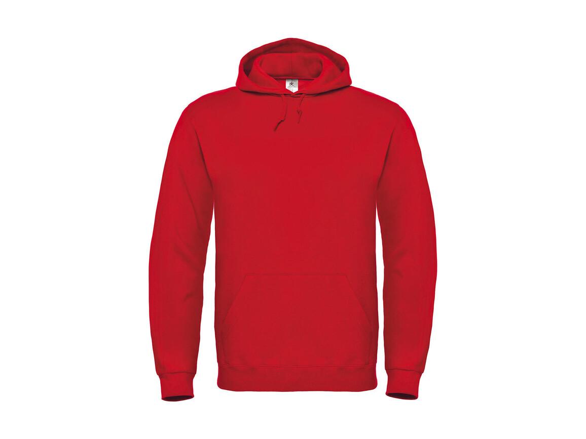 B & C ID.003 Cotton Rich Hooded Sweatshirt, Red, 2XL bedrucken, Art.-Nr. 275424007