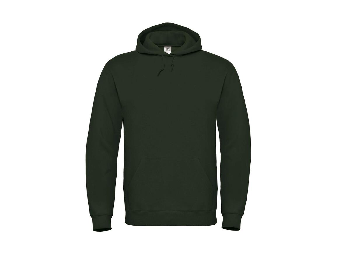 B & C ID.003 Cotton Rich Hooded Sweatshirt, Forest Green, L bedrucken, Art.-Nr. 275425415