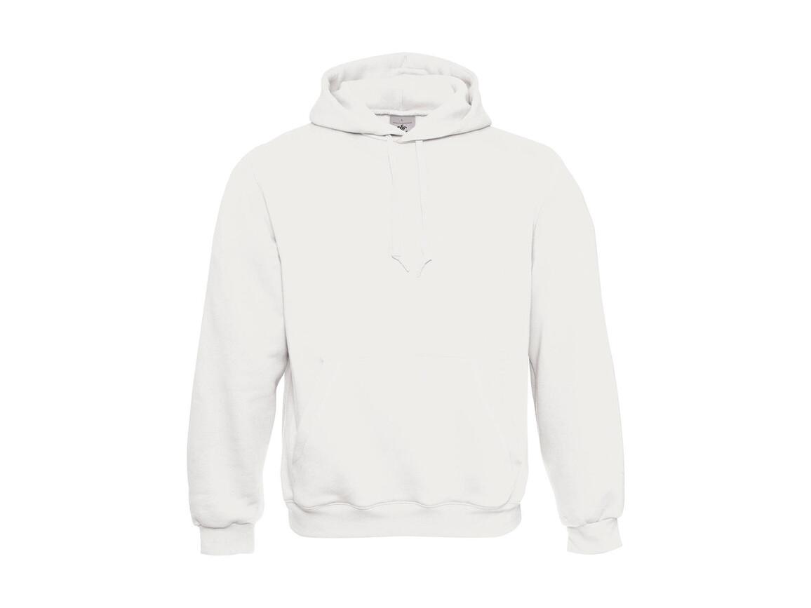 B & C Hooded Sweatshirt, White, XL bedrucken, Art.-Nr. 276420006