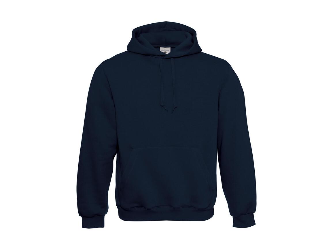 B & C Hooded Sweatshirt, Navy, S bedrucken, Art.-Nr. 276422003