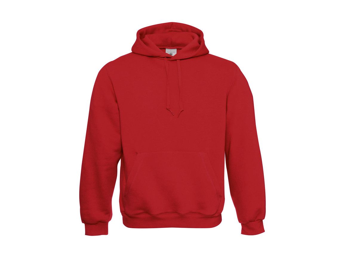 B & C Hooded Sweatshirt, Red, XL bedrucken, Art.-Nr. 276424006